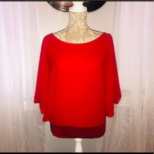 Red Flowy Blouse ❤️